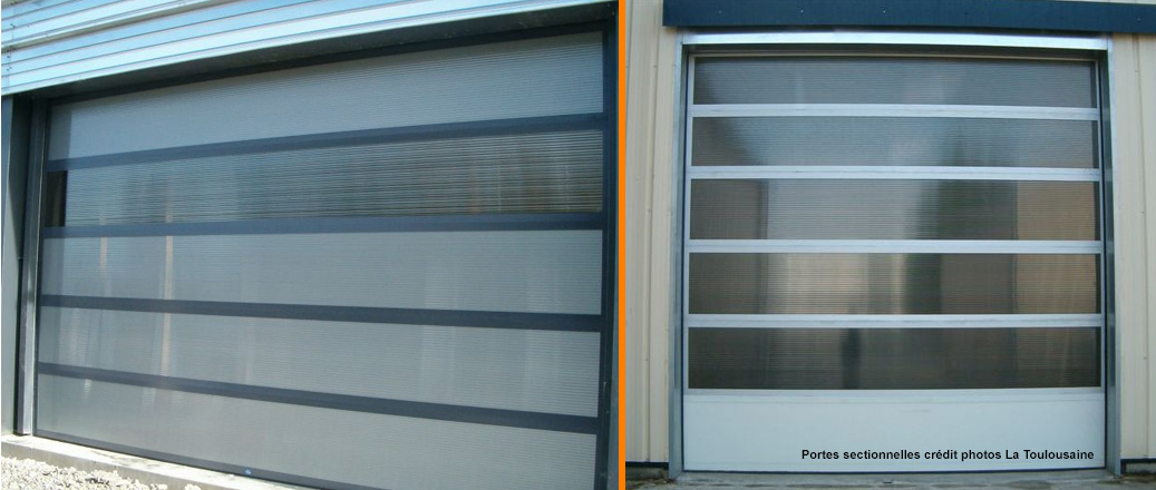 Portes de garage en aluminium dijon en c te d 39 or for Porte de garage a 3 battants